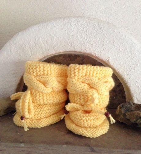 Makerist - Baby winter booties - Strickprojekte - 1