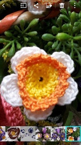 Makerist - gehäkelte Blumen im geflochtenen Korb - Häkelprojekte - 3