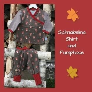 Baby-Set aus Schnabelina-Shirt Trotzkopf und Basic-Pumphose