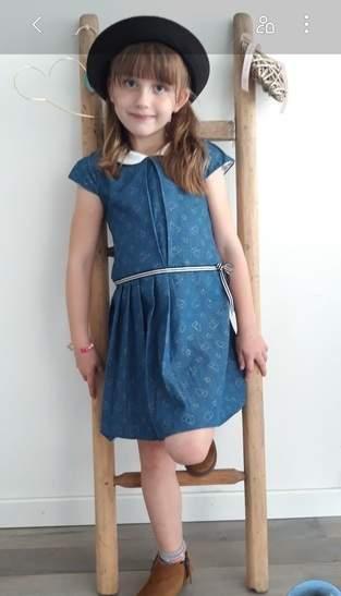 Makerist - Robe petite écolière pour fillette en denim - 1