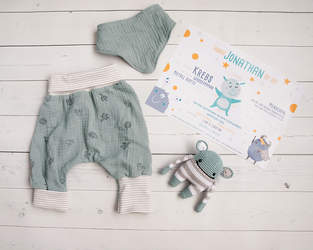 Makerist - Checkerhose Klimperklein im Newborn Set - 1