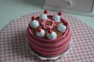 Gehäkelte Torte