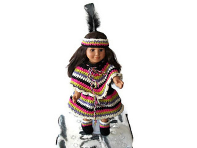 "Makerist - 18"" Indian Doll Costume - Crochet Showcase - 1"