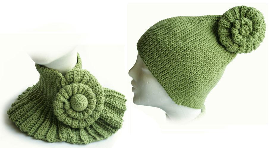 Makerist - Der winter wird stylish :-) Mütze und Halswärmer mit Schnecke - Häkelprojekte - 1