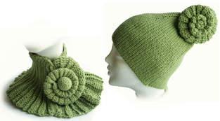 Makerist - Der winter wird stylish :-) Mütze und Halswärmer mit Schnecke - 1