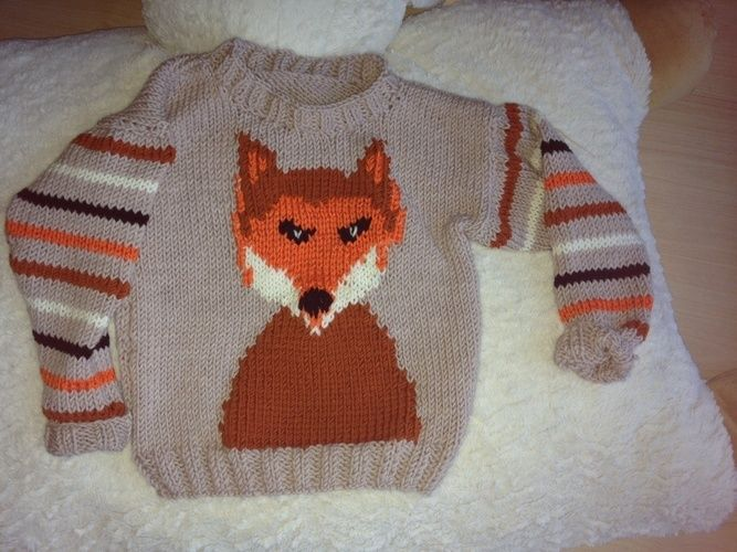 Makerist - Herbstlicher Fuchspulli für den Kleinen - Strickprojekte - 1