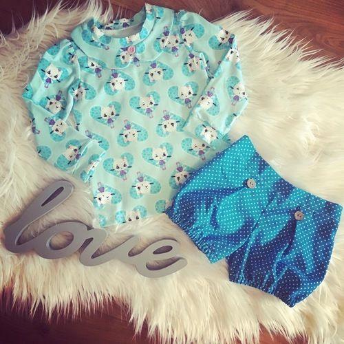 "Makerist - Tolle Kombi: Shirt ""Immergrün"" und Shorts ""Girly Bloomers"" - Nähprojekte - 1"