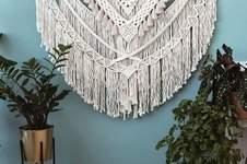 Makerist -  Schöne große Makramee Wandbehang  / Home Decor / Handgemacht / große böhmische Hochzeit Hintergrund Dekoration für Wohnzimmer - 1