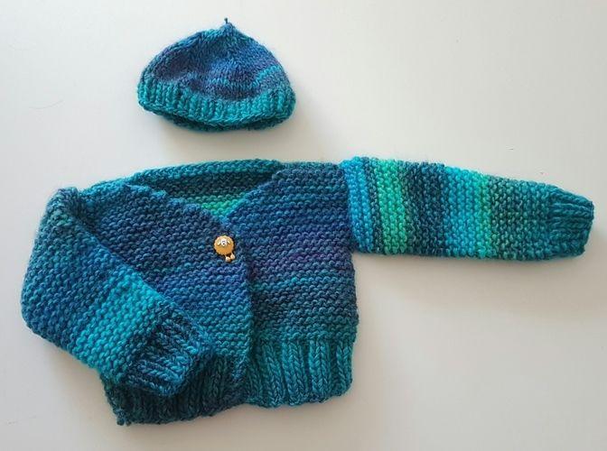 Makerist - Babyjacke Schäfchen - Strickprojekte - 1