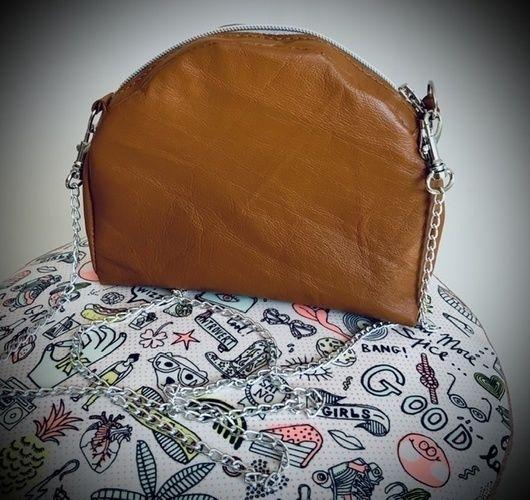 Makerist - Mini sac AVERSE en cuir cognac patron de Damn Good Caramel - Créations de couture - 1