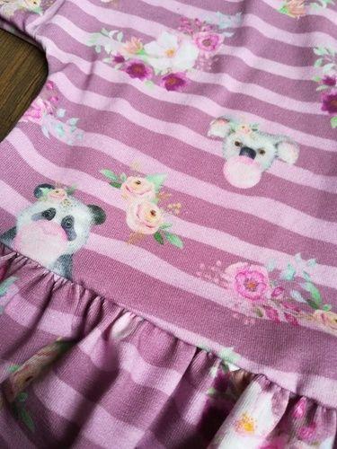 """Makerist - Robe rayée en jersey rose et violet (""""Robe Tunique Miss"""" de chez Ly Dyi) - Créations de couture - 2"""