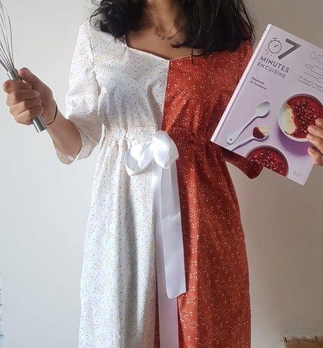 Makerist - Robe Gourmandise d'Atelier Maelstrom version bicolore - Créations de couture - 3
