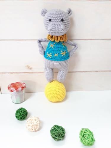 Makerist - Noam l'hippopotame de Lucélie Création - Créations de crochet - 1