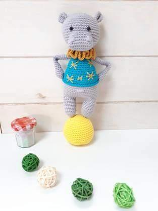 Makerist - Noam l'hippopotame de Lucélie Création - 1