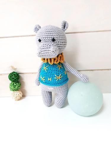 Makerist - Noam l'hippopotame de Lucélie Création - Créations de crochet - 2