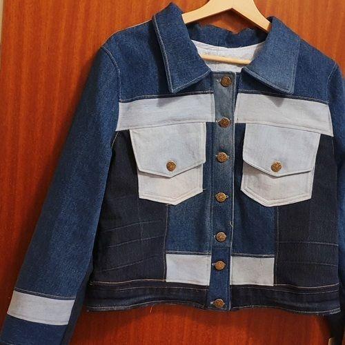Makerist - Jeansjacke #Elly aus 2 Jeanshosen und einer Jeansjacke - Nähprojekte - 2