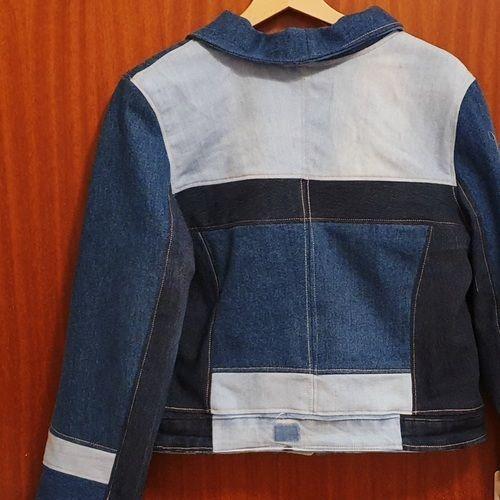 Makerist - Jeansjacke #Elly aus 2 Jeanshosen und einer Jeansjacke - Nähprojekte - 3