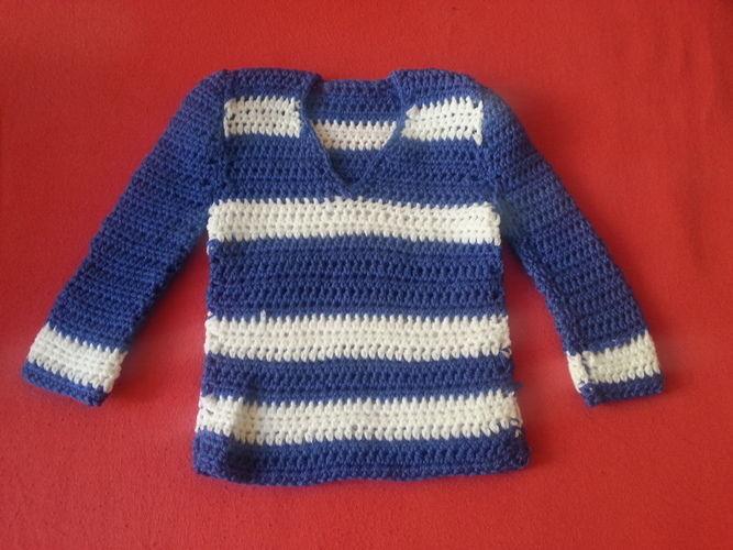 Makerist - Babypullover Matrose - Häkelprojekte - 1
