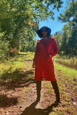 Makerist - Oversize-Sweat-Dress - Chic mit Overknees  - 1