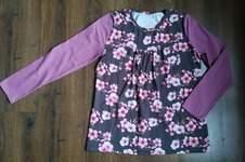 """Makerist - Tunique fleurie rose et taupe (""""Chemise Girly"""" de chez Konfetti) - 1"""