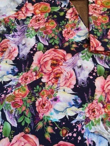 """Makerist - Robe bleue fleurie avec des licornes (""""Robe Mia"""" de chez L'Usine à Bulles) - Créations de couture - 2"""