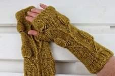 Makerist - Armstulpen Golden Leaves - 1