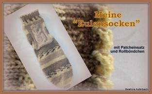 """Makerist - meine Effekt-Socke """"Eule"""" - 1"""