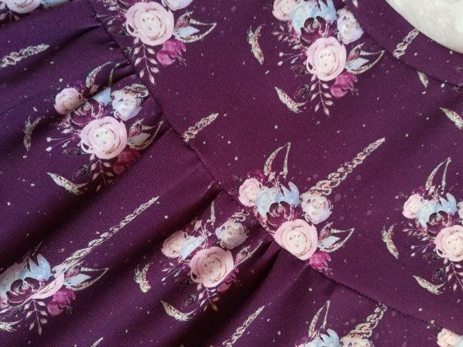 """Makerist - Tunique prune à licornes (""""Chemise Girly"""" de chez Konfetti)  - Créations de couture - 2"""