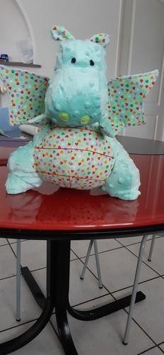 Makerist - Yoki le gros dragon pour mon petit fils. réalisé en minkee pour ma part et et en coton. - Créations de couture - 1