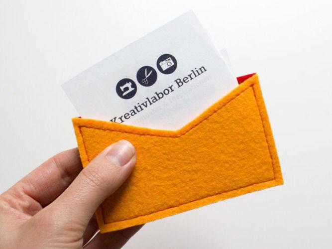 Makerist - Visitenkarten-Etui aus Filz - Nähprojekte - 1