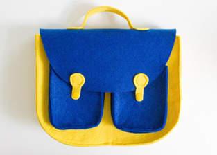 Makerist - Retro-Handtasche aus Filz - 1