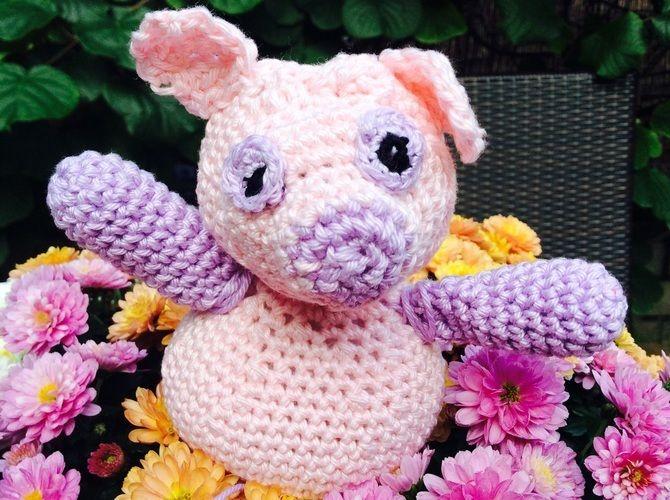 Makerist - Rassel Schwein  - Häkelprojekte - 1