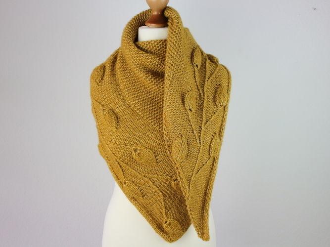 Makerist - Golden Leaves Tuch - Strickprojekte - 1