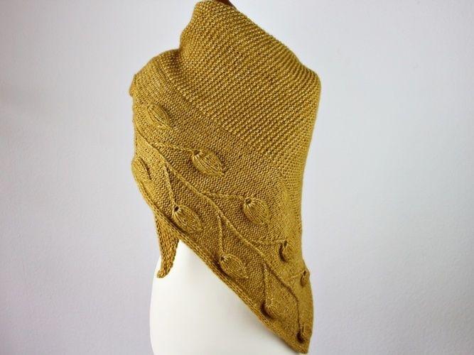 Makerist - Golden Leaves Tuch - Strickprojekte - 3