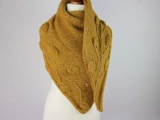 Golden Leaves Shawl