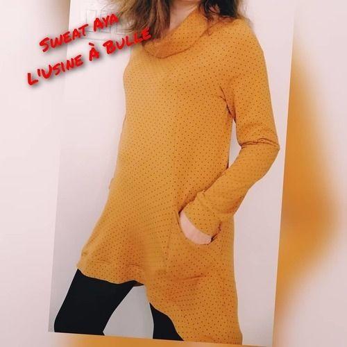 Makerist - Mon sweat Aya de l'usine à bulle en jersey - Créations de couture - 1