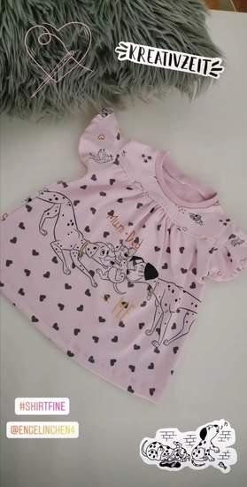 Makerist - Shirt Fine aus einem Dalmatiner Panel für meine Tochter  - 1