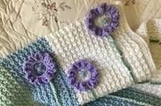 Makerist - Lilac Sunflower Baby Blanket  - 1