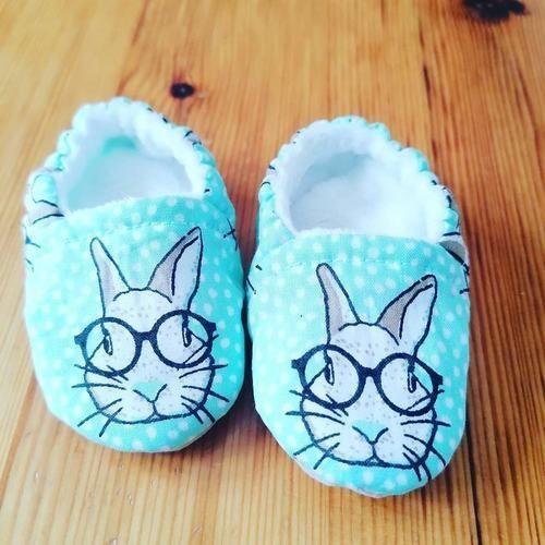 Makerist - Chaussons bébé sans coutures apparentes lapin - Créations de couture - 1