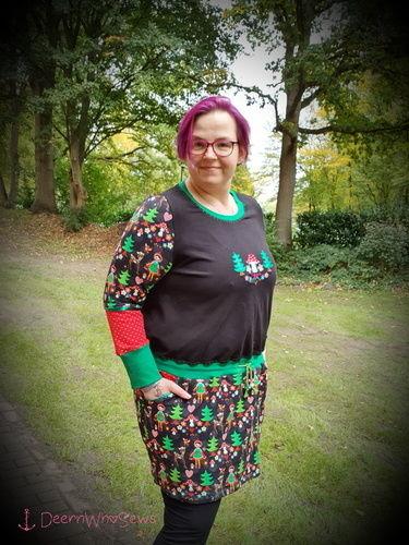 Makerist - Erna von Manjipuh - Größe 48 - ich LIEBE es - ob Kleid oder als Shirt, toller Allrounder, Lieblingsbasic - Nähprojekte - 3