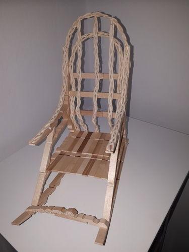 Makerist - Schaukelstuhl  wäscheklammer - Werkzimmer - 1