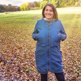 Mantel Marie aus Canvas