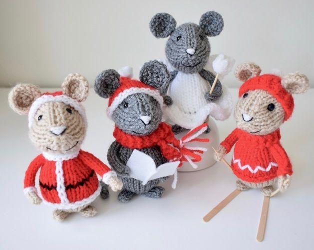 Makerist - Christmas Mice - Knitting Showcase - 1