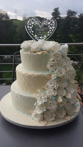 Makerist - Meine erste Hochzeitstorte!  - Torten, Cake Pops und Cupcakes - 1