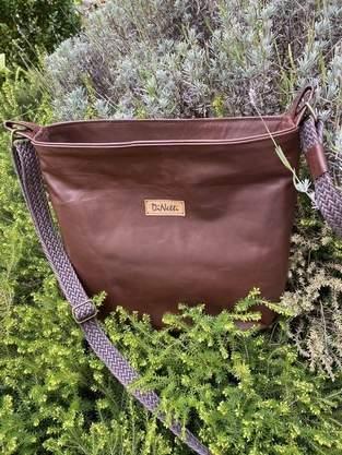Makerist - Braune Echtleder-Tasche - 1