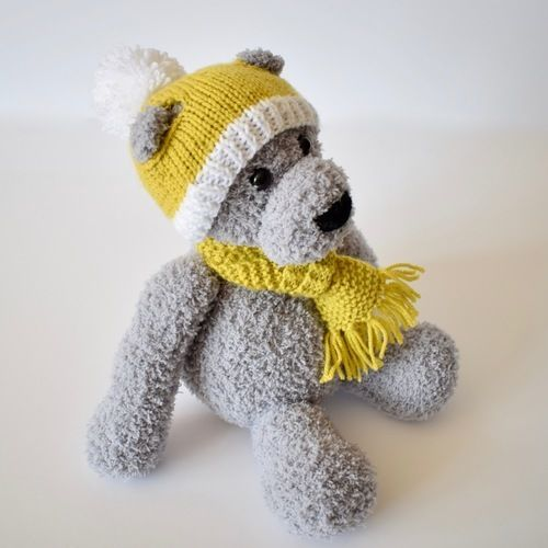 Makerist - Honey Hat and Scarf - Knitting Showcase - 1