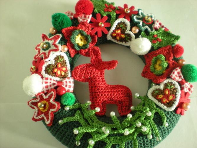 Makerist - Weihnachtsdeko Türkranz - Häkelprojekte - 2