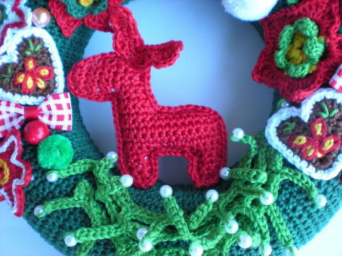 Makerist - Weihnachtsdeko Türkranz - Häkelprojekte - 3