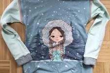 Makerist - Kuscheliger Winter Longpulli mit süßem Panel  - 1