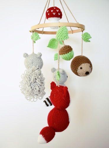 Makerist - Woodland Mobile - Knitting Showcase - 2